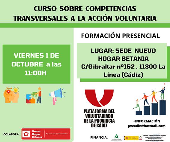 Curso sobre competencias transversales a la acción voluntaria
